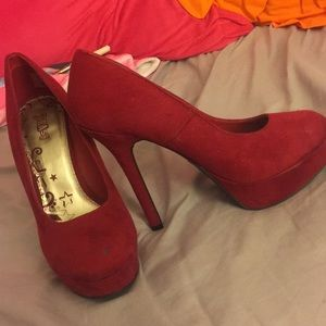 Red Velvet Pumps